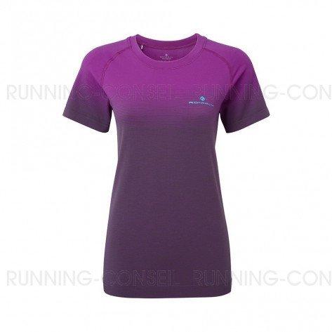 RONHILL Tee-shirt manches courtes Infinity Marathon Femme | Thistle Grey marl