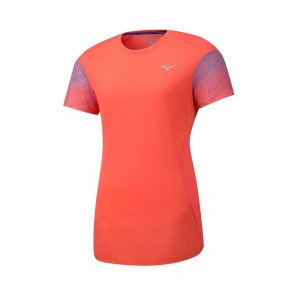 MIZUNO Tee-Shirt manches courtes AERO PREMIUM Femme | Hot Coral | Collection Printemps-Été 2019