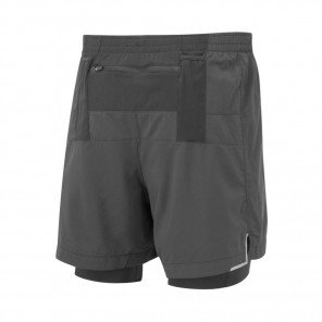 RONHILL Short TWIN MARATHON INFINITY Homme | All Black