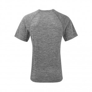 RONHILL T-SHIRT MANCHE COURTE MOMENTUM Homme | MULBERRY/GREY MARL