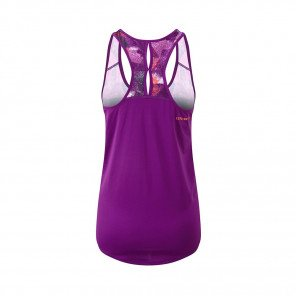 RONHILL DÉBARDEUR RACER REVIVE STRIDE Femme | GRAPE JUICE/HOT CORAL