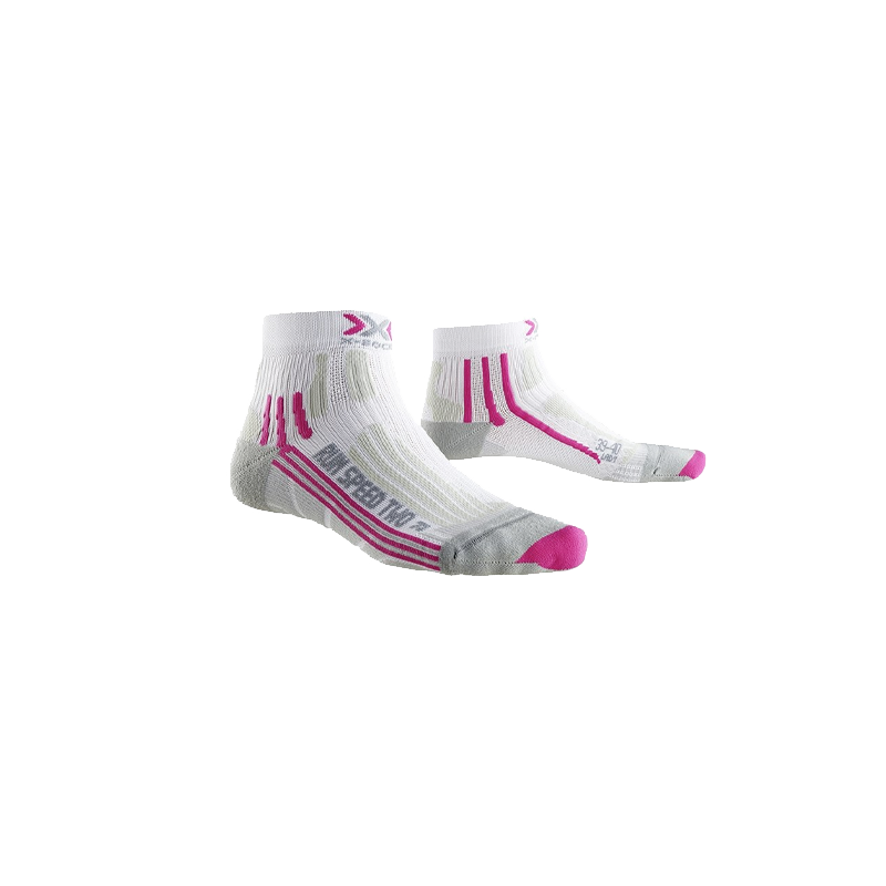 X-Socks Run Speed Two - Femme - Blanc / Fushia